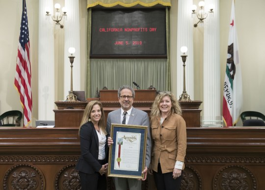 Assemblymember Bloom with honorees on the Assembly Floor