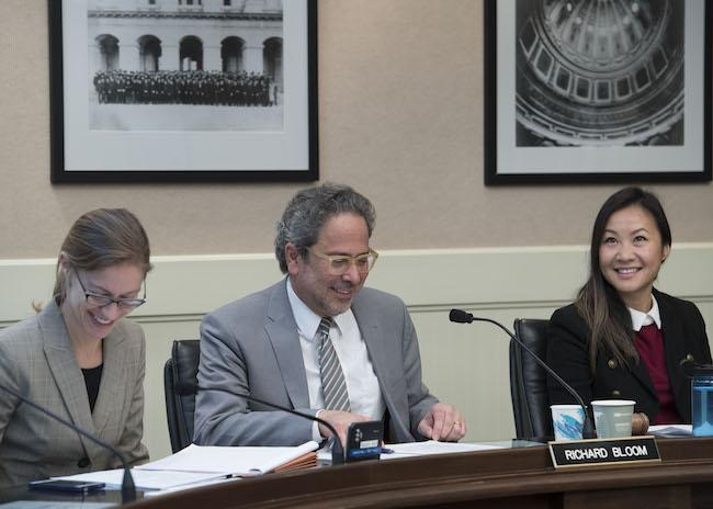 Assemblymember Bloom presiding over a Budget Subcommittee #3 hearing