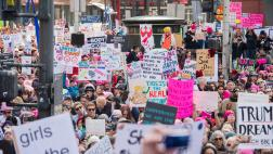 Crowd at LA Women's March