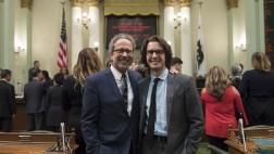 Bloom with son on the Assembly Floor