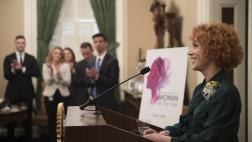 Attendees applaud Kathy Griffin
